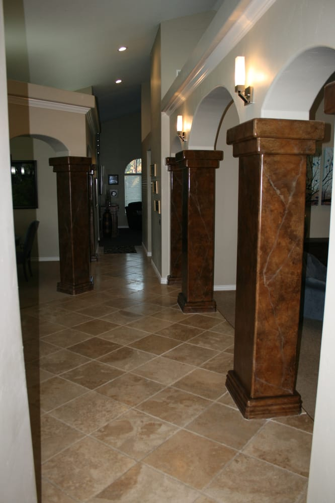 Faux Painted Columns Part - 28: Photo Of Lisa Bryant Faux Finishes - Temecula, CA, United States. Faux  Painted