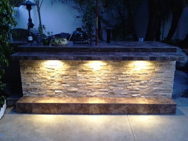 The Quot Catailna Quot Outdoor Kitchen With Stone Veneer Siding