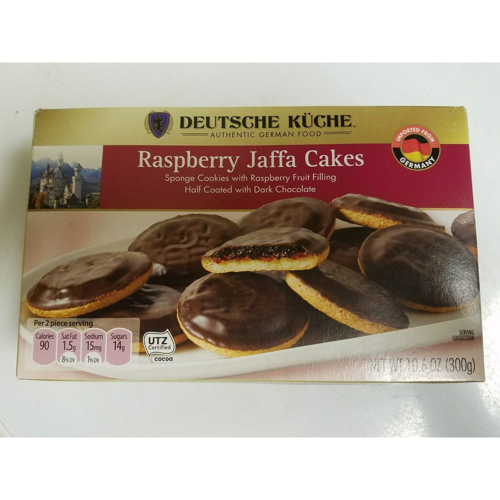 German imported jaffa cakes (soft cookie with jelly and chocolate ...