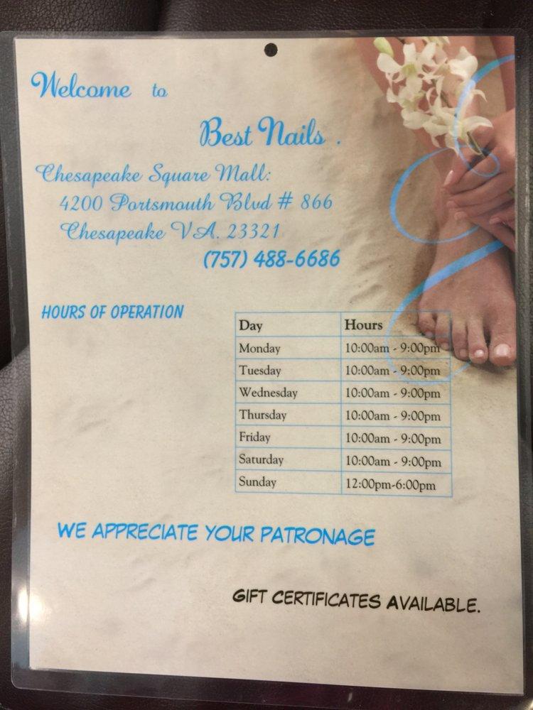 Best Nails Salon: 4200 Portsmouth Blvd, Chesapeake, VA