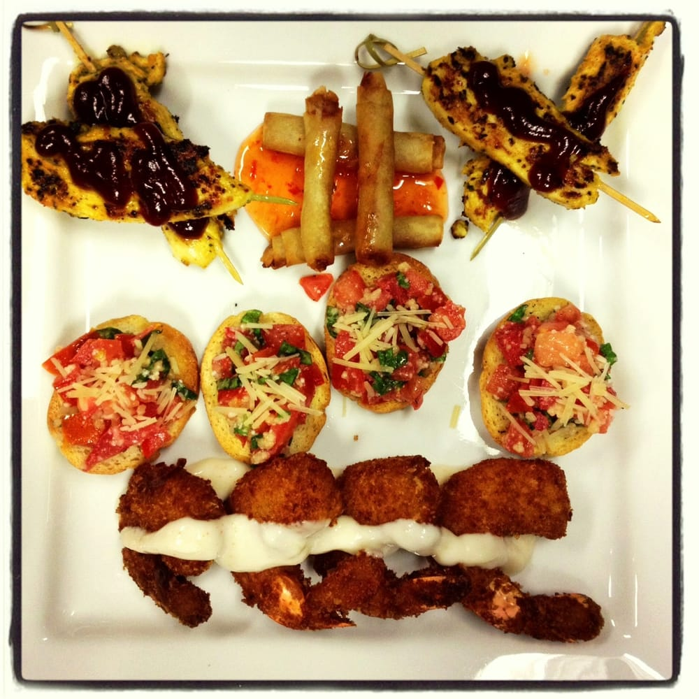 Appetizer Only Wedding Reception: Appetizer Tasting Plate For A Wedding Reception