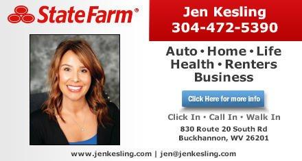 Jen Kesling - State Farm Insurance Agent: 830 Rte 20 S Rd, Buckhannon, WV