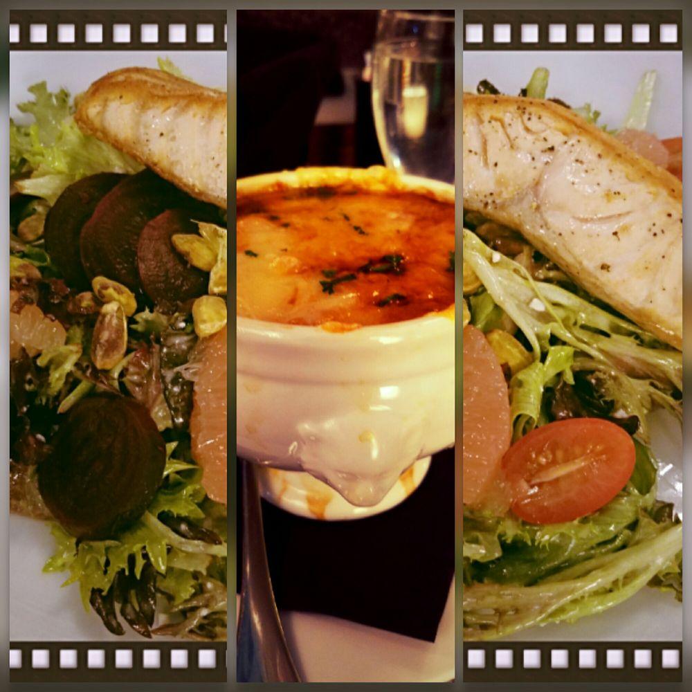 French Onion Soup Beet Salad W Salmon Yelp