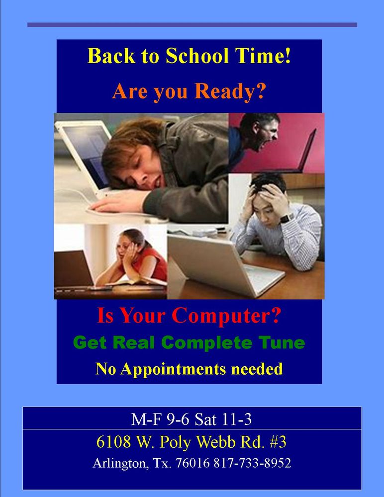 Computer Repairs and Solutions: 6108 W Poly Webb Rd, Arlington, TX