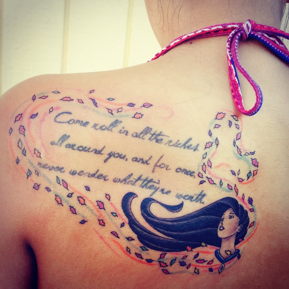 1c3322eea40d7 Photo of Anchor Tattoo - Vacaville, CA, United States. Pocahontas artwork  and Hidden