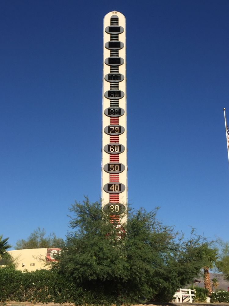 World's Tallest Thermometer: 72157 Baker Blvd, Baker, CA