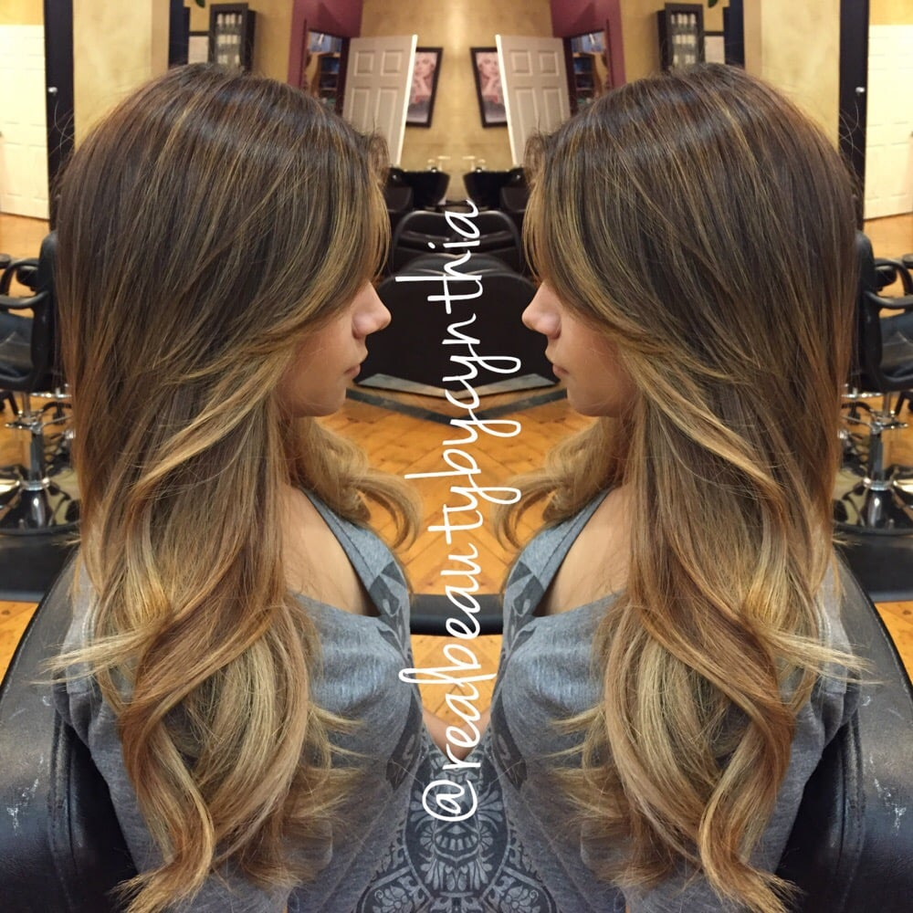 This Is A Balayage Ombr 233 Highlight On Golden Brown Hair