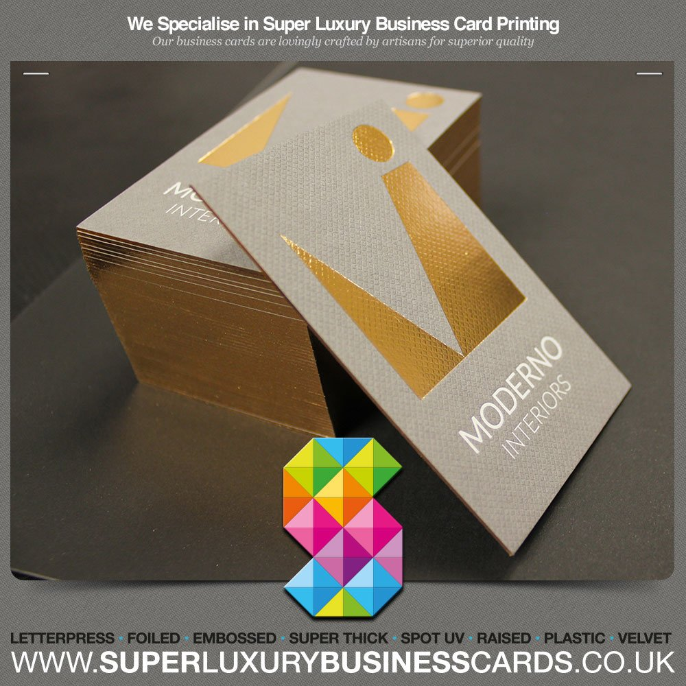 Printed Luxury Business Cards - Triple Layer Spot UV Gloss with ...