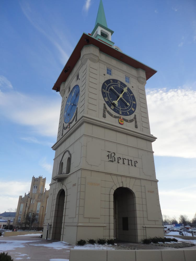 Muensterberg Plaza & Clock Tower: 523 W Water St, Berne, IN