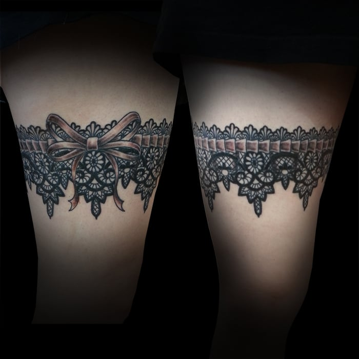 picstitch of lace garter around leg by joe paul yelp. Black Bedroom Furniture Sets. Home Design Ideas