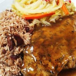 Jerk Chicken Grilled jerk chicken (breast or leg quarter) seasoned to ...