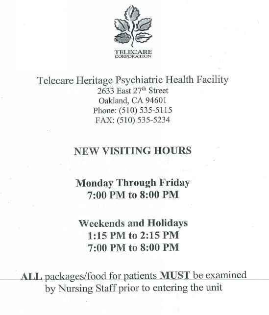 Telecare Heritage Psychiatric Health Facility