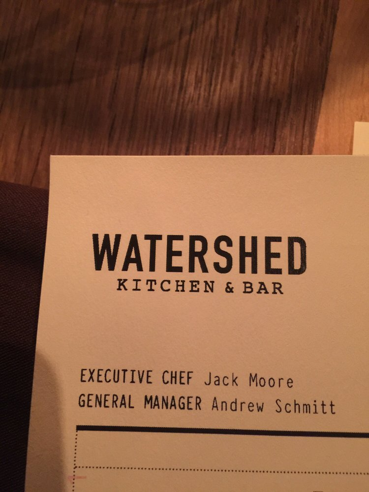 Watershed Bar And Kitchen Columbus