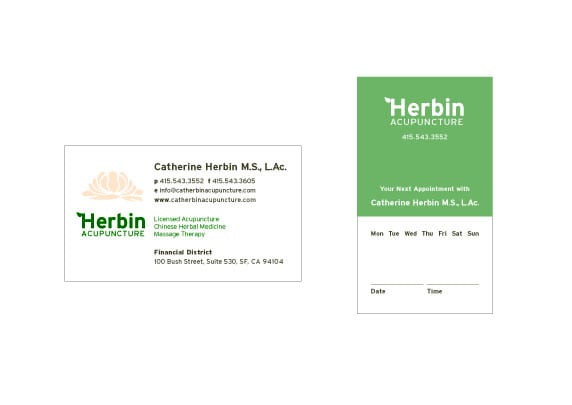 My business cards designed by nicolespear yelp photo of herbin acupuncture san francisco ca united states my business cards reheart Choice Image