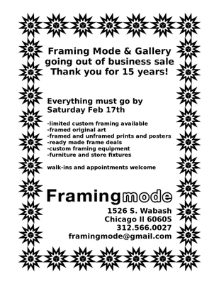 Framing Mode & Gallery Ltd 1526 S Wabash Ave Chicago, IL Picture ...