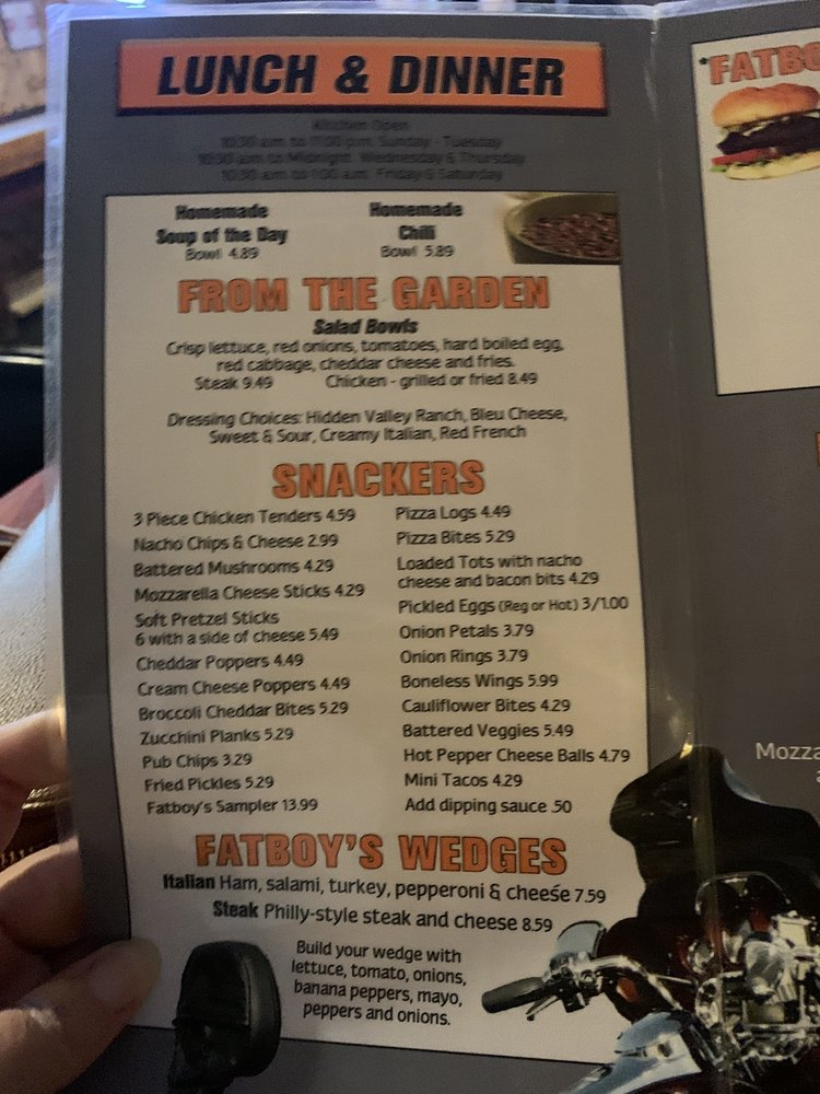 Fatboy's Saloon: 12714 Dicksonburg Rd, Conneautville, PA
