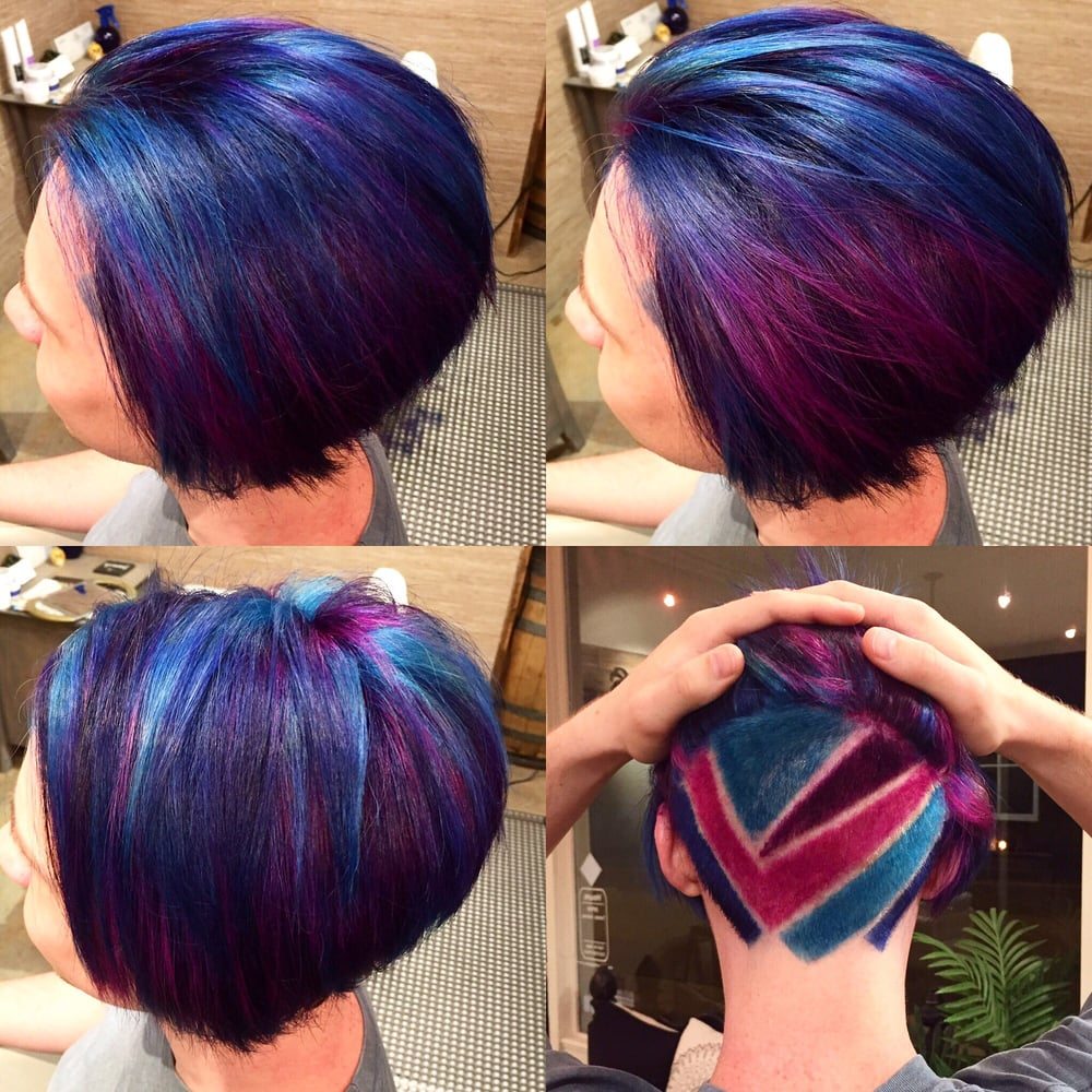 Something fun! Undercut and Galaxy hair color - Yelp