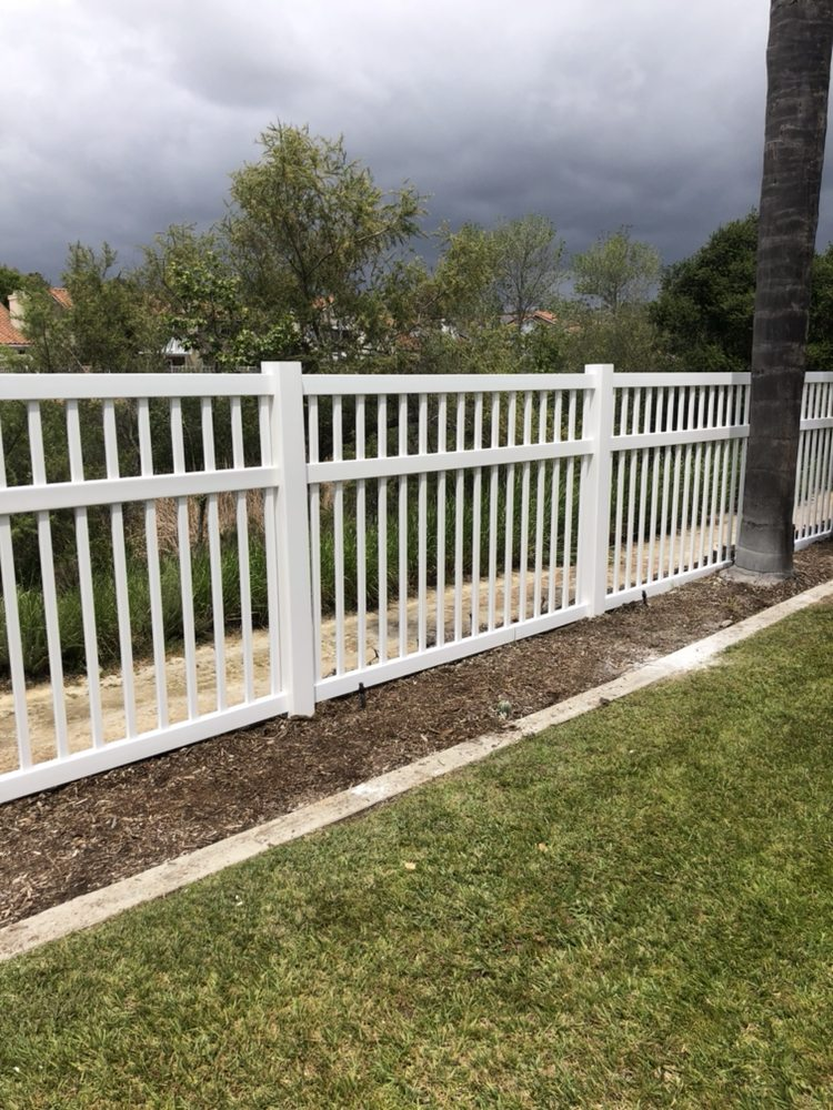 5 Foot Tall Perimeter White Vinyl Fence We Just Installed