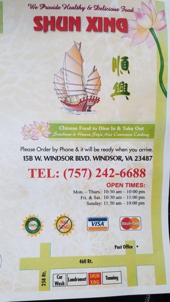 Shun Xing: 15 W WIndsor Blvd, Windsor, VA
