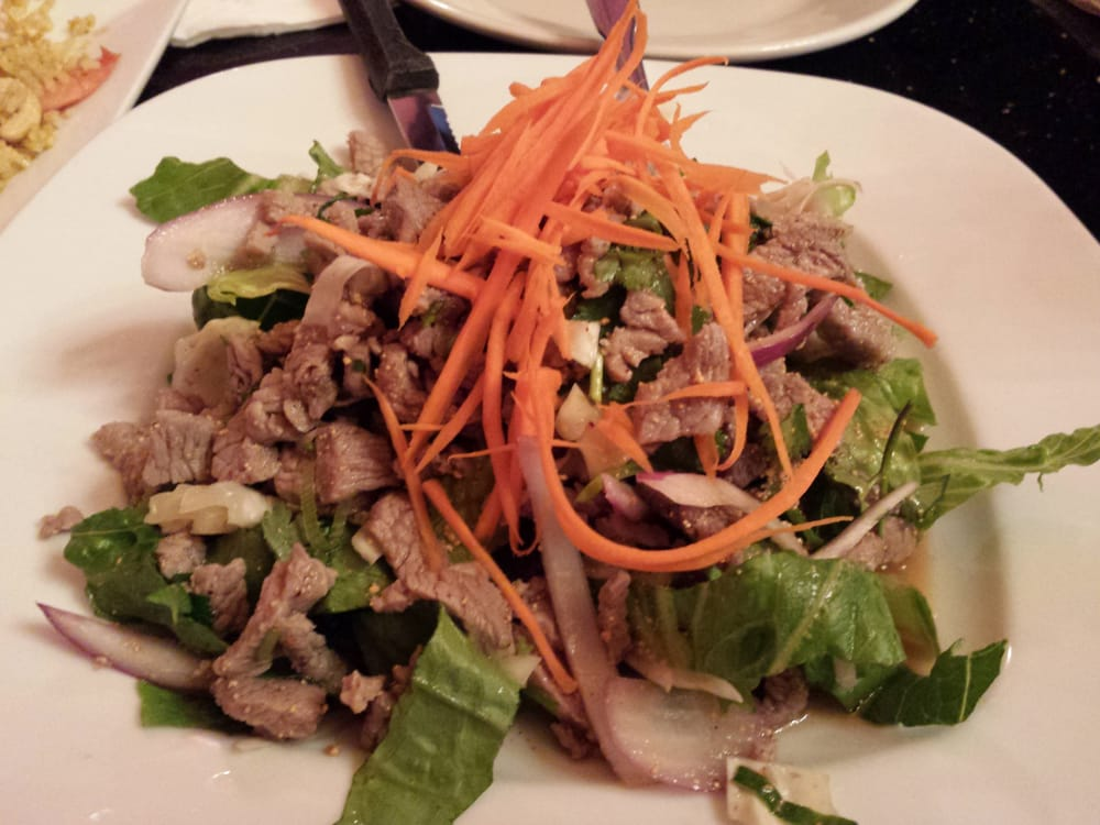 Beef laarb salad yelp for Anong thai cuisine