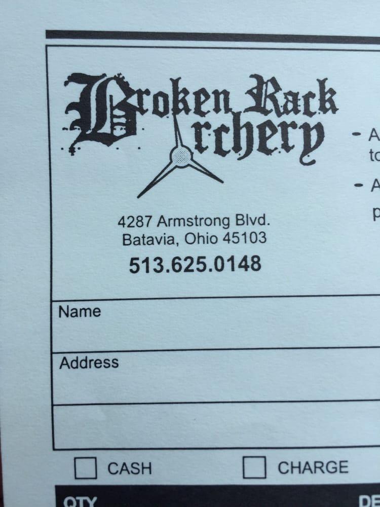 Broken Rack Archery: 4287 Armstrong Blvd, Batavia, OH