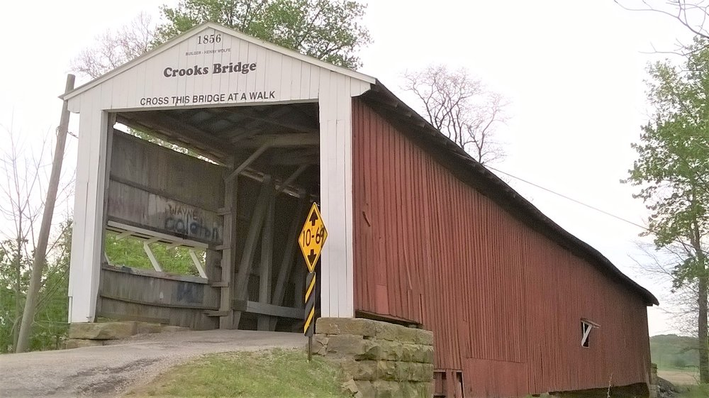 Crooks Covered Bridge: Crooks Bridge Rd, Adams Township, IN