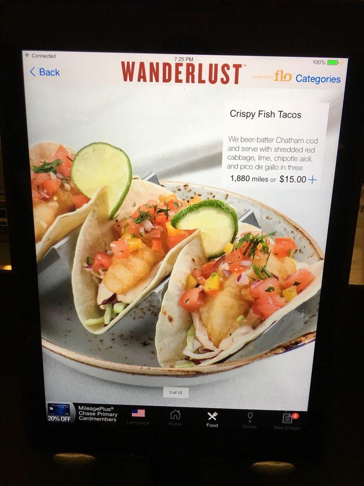 Food from Wanderlust Burger Bar