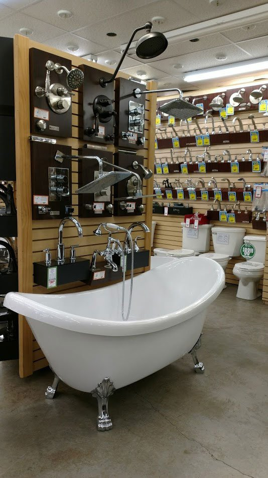 Beautiful Claw Foot Tub And A Huge Selection Of Bathroom Fixtures