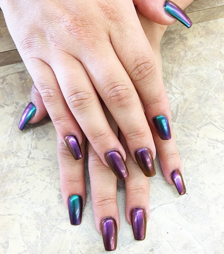 Iridescent chrome style nails by Wendy - Yelp