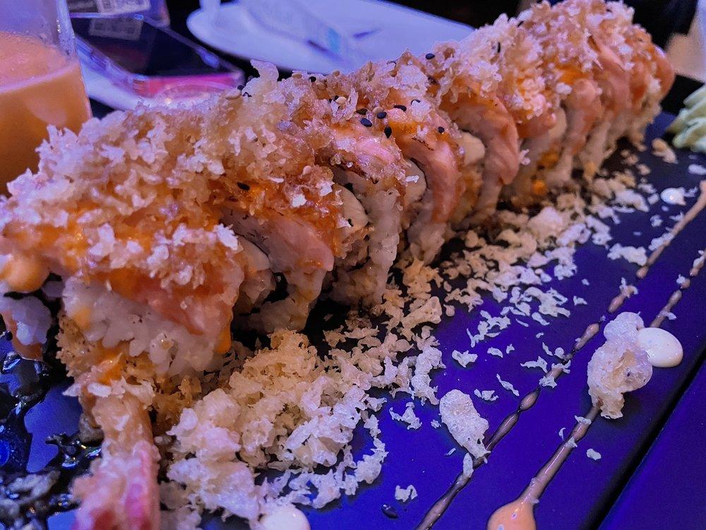 Food from Kin D Thai & Sushi