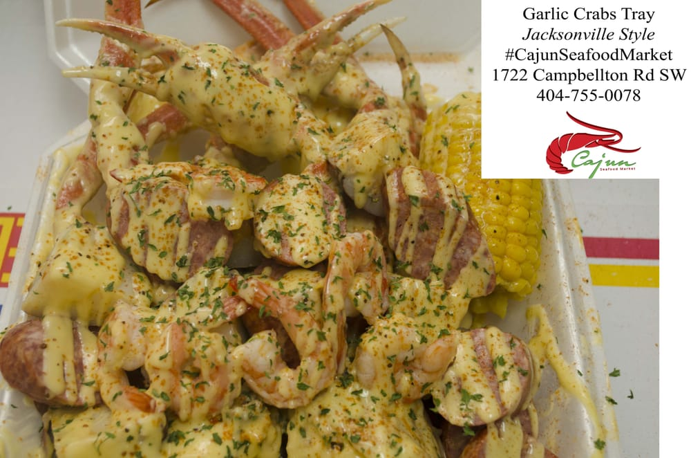 Garlic crab combo tray jacksonville style yelp for Fish market jacksonville fl