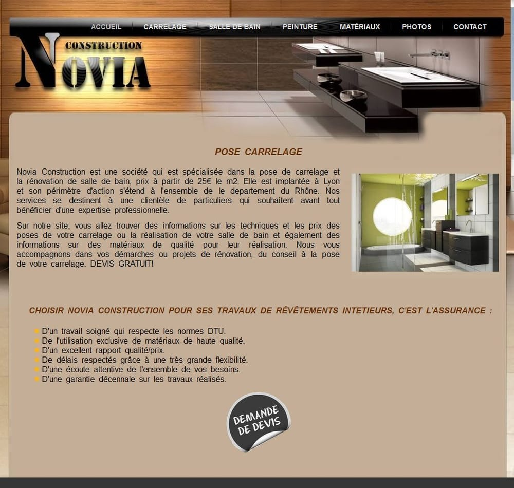 Catalogue Salle De Bain Richardson ~ Novia Construction Contractors 6 Rue Josephine Baker 7 Me