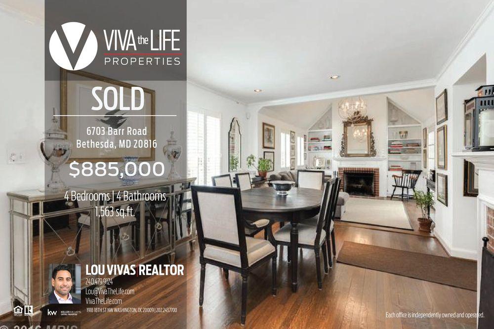 Viva The Life Properties, LLC. - Lou Vivas: 1918 18th St NW, Washington, DC, DC