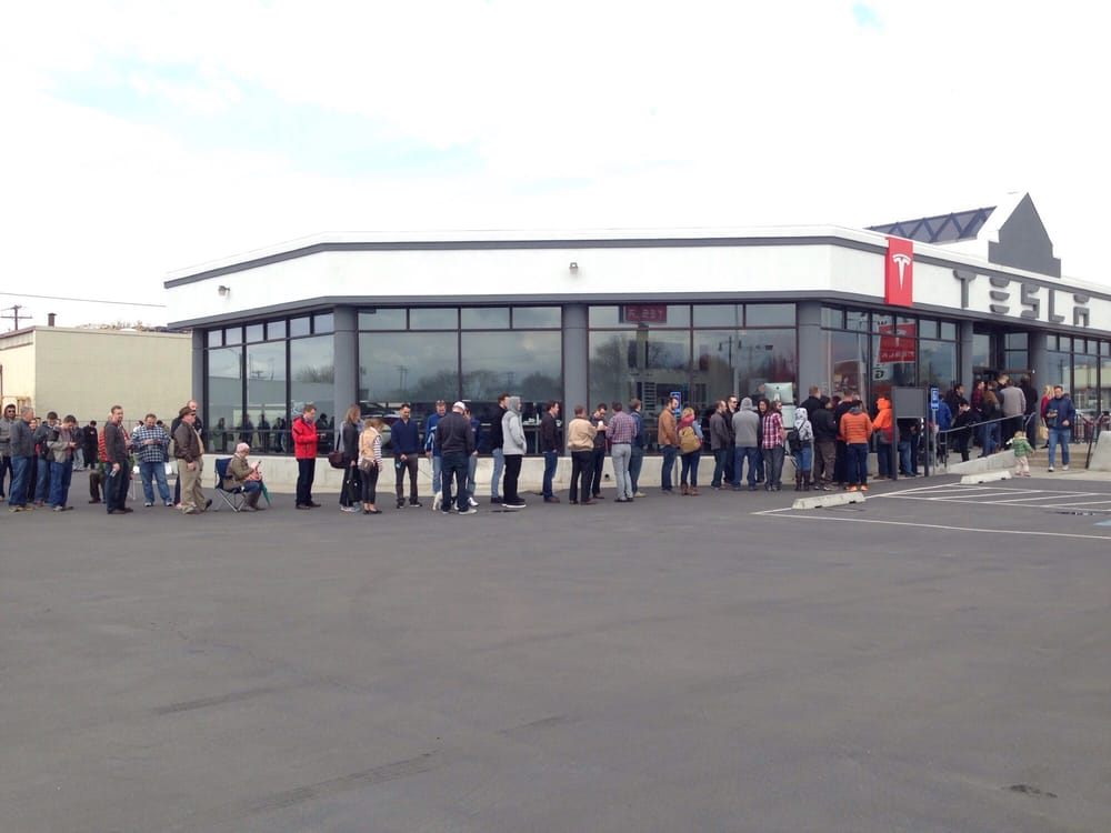 This is how popular the new Tesla Model 3 is. Check out ...
