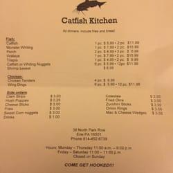 Hooks Catfish Kitchen Erie Pa Menu