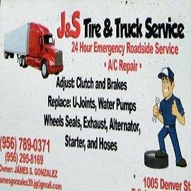 J&S Tire & Truck Service: 1005 W Denver St, Edinburg, TX