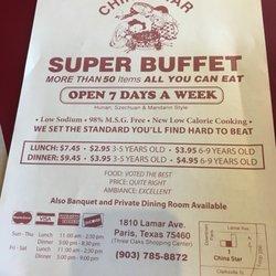 efcb57efc China Star Restaurant - 12 Reviews - Chinese - 1810 Lamar Ave, Paris, TX -  Restaurant Reviews - Phone Number - Yelp