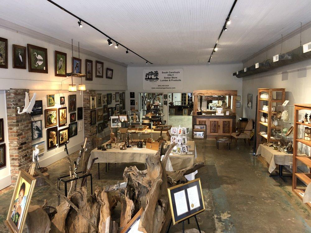 The Swamp Log Artisans Gallery: 229 N Main St, Bishopville, SC