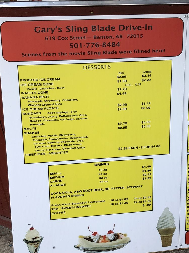 Garry's Drive In: 619 Cox St, Benton, AR