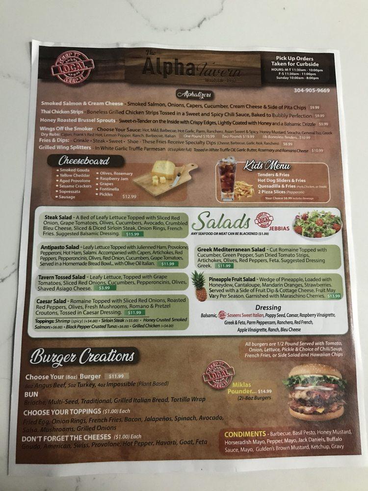 Alpha Tavern: 50 Carmel Rd, Wheeling, WV