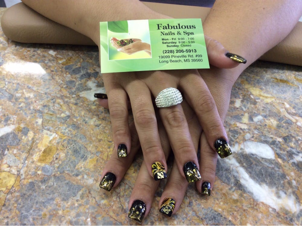 New Orleans saints nails:) - Yelp