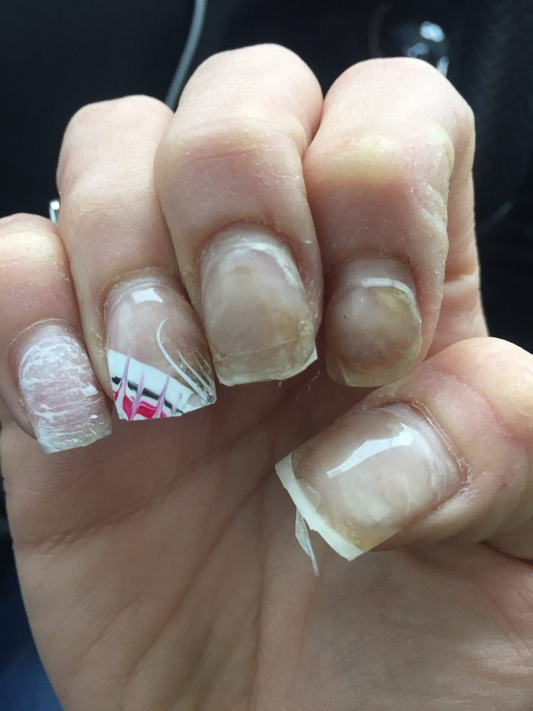 This was done by prying a metro card between my nail and the tip. - Yelp