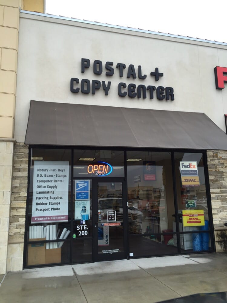 Postal located next to joseph a bank in the randall 39 s for Pictures plus houston