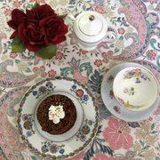 Photo of Olde English Tea Room - Wake Forest, NC, United States. Grand chocolate cupcake!