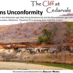 Photo Of Cliff At Cedarvale Davis Ok United States Unconformity The