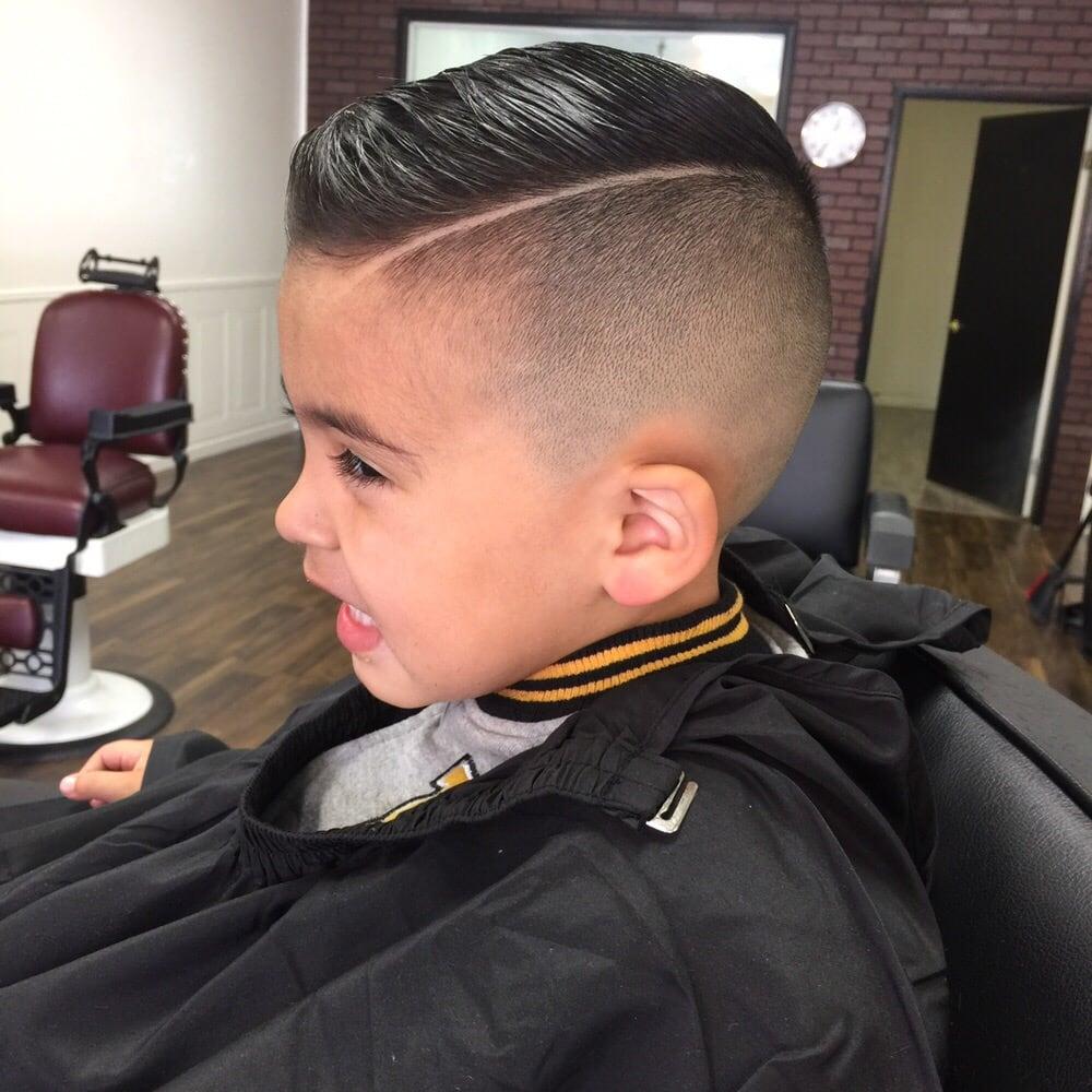 Kids Hair Cut With A Straight Razor Line Up Yelp - Boy haircut razor