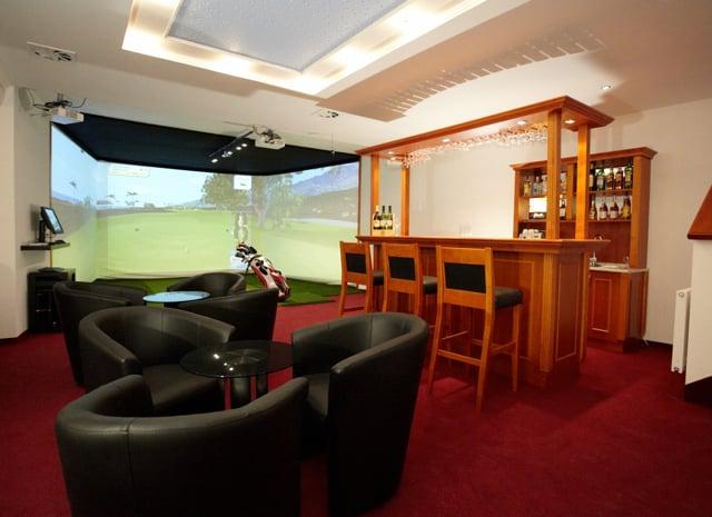 Man Cave Golf Simulator : Golf room decor man cave full swing simulator traditional
