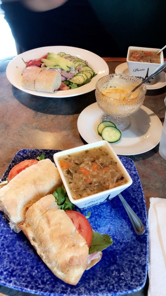 Rosemary and ham sandwich with chicken and wild rice soup - Yelp