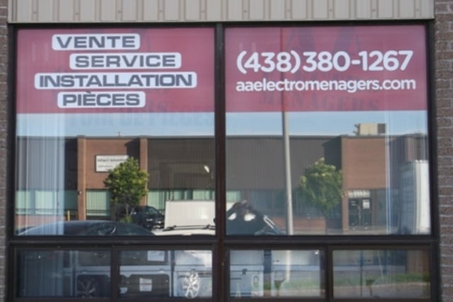 Aa electromenagers appliances repair 1480 rue b gin for Boutique meuble rue st laurent montreal