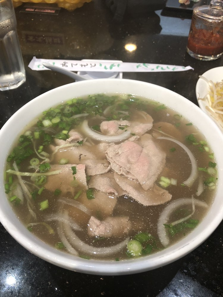 Pho with rare steak - my go-to order - Yelp